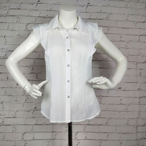 BCBGeneration Button Down Ruffle Sleeves S…